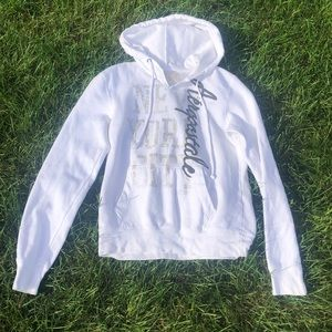 Aeropostale white hooded sweatshirt